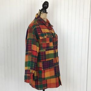 Vintage GUESS Thick Wool Plaid Lined Shirt Jacket
